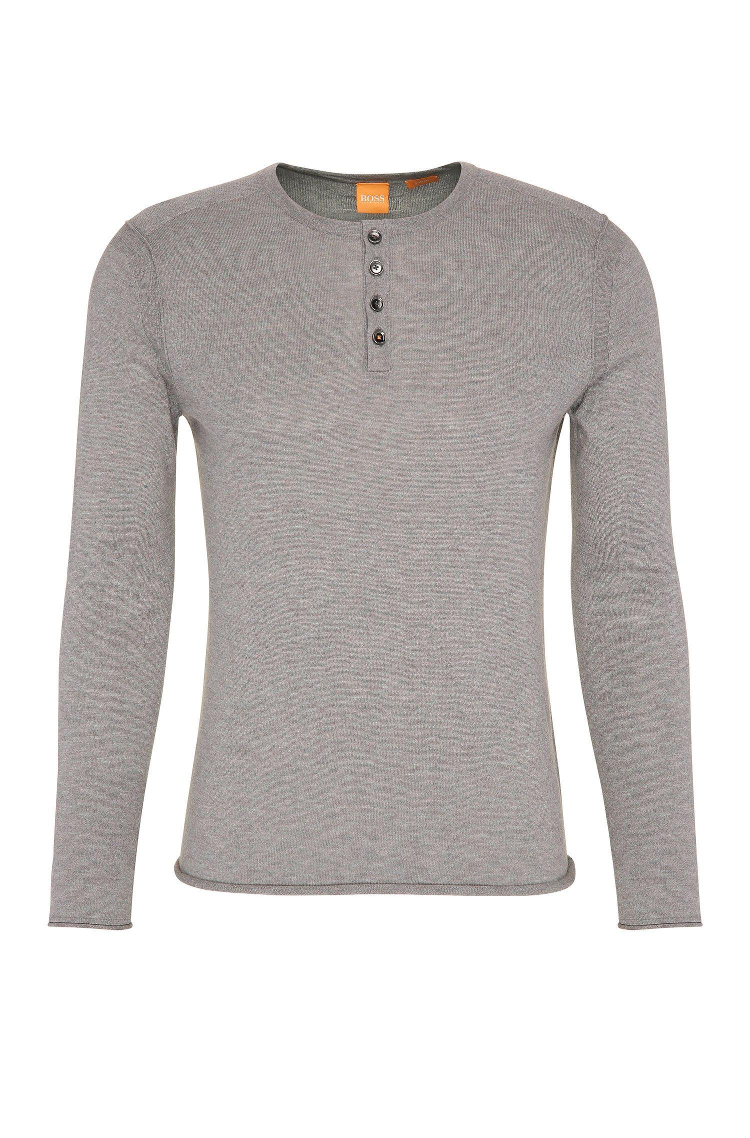 Slim-fit trui van een licht katoenen breisel: 'Koastly'