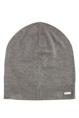 Knit cap in cotton: 'Kapino', Light Grey