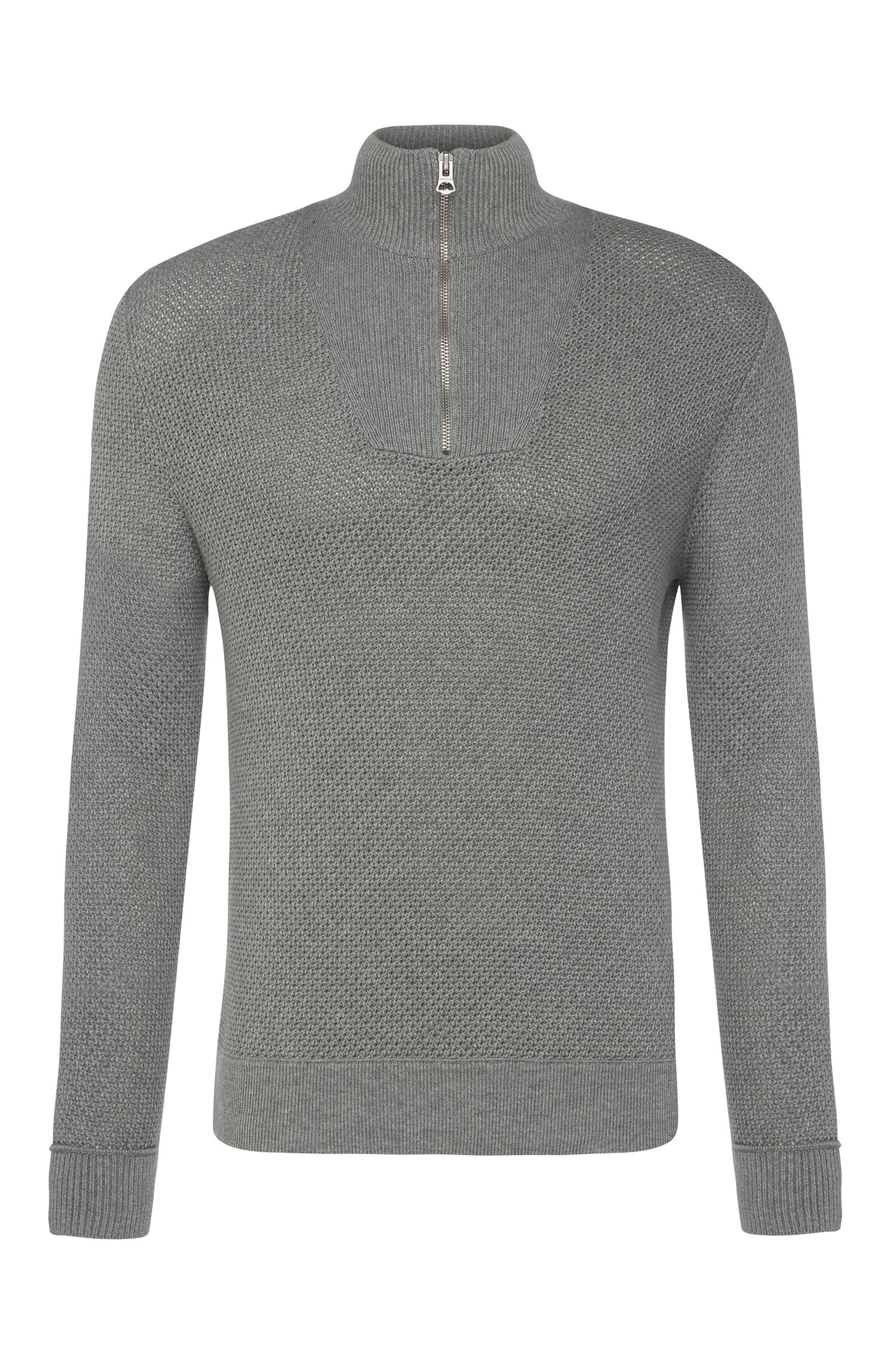 Slim-fit knit sweater in cotton: 'Artric'