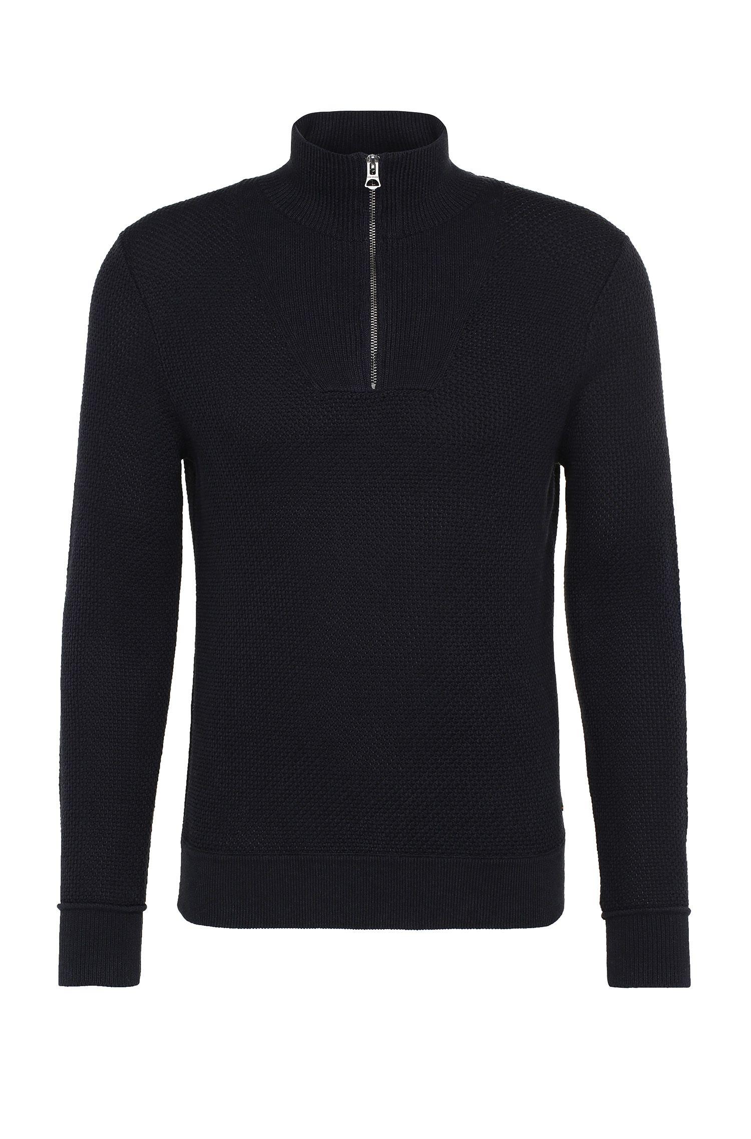 Pullover in maglia slim fit in cotone: 'Artric'