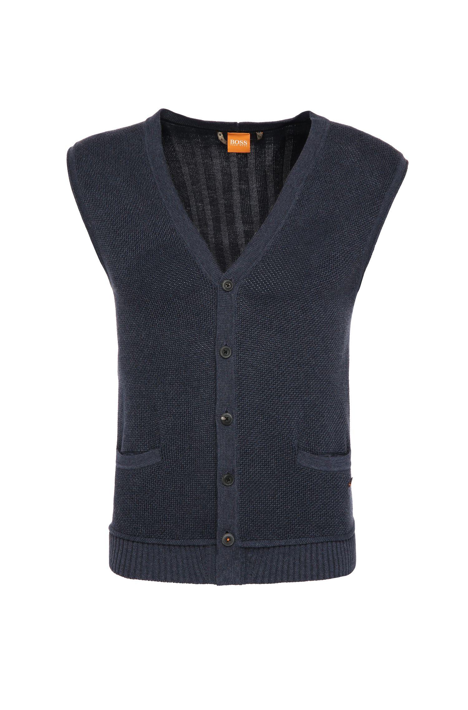 Gilet slim fit in maglia di cotone: 'Kralito'