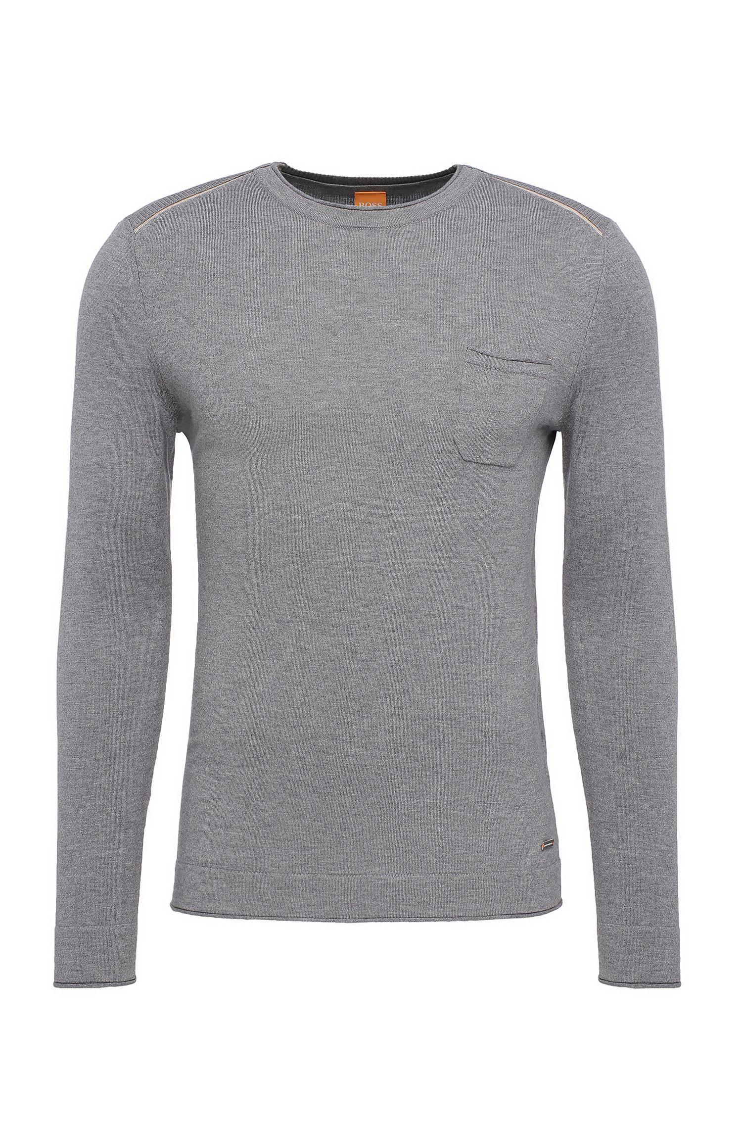 Jersey slim fit en mezcla de algodón con viscosa y seda: 'Krewyt'