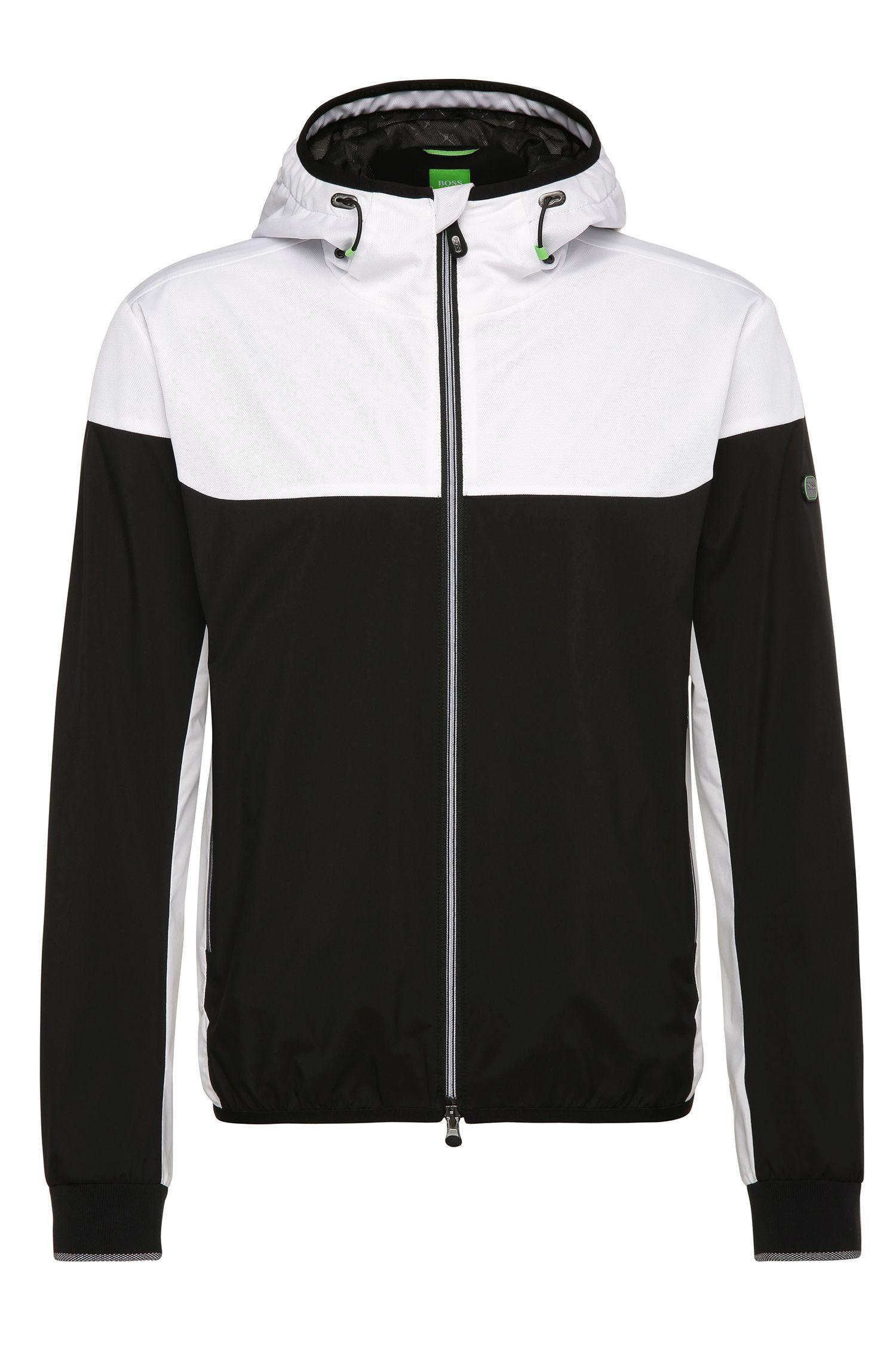 Zweifarbige Outdoor-Jacke aus Material-Mix: ´Josso`