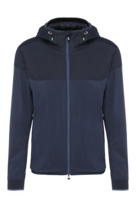 2-tone outdoor jacket in material blend: 'Josso', Dark Blue
