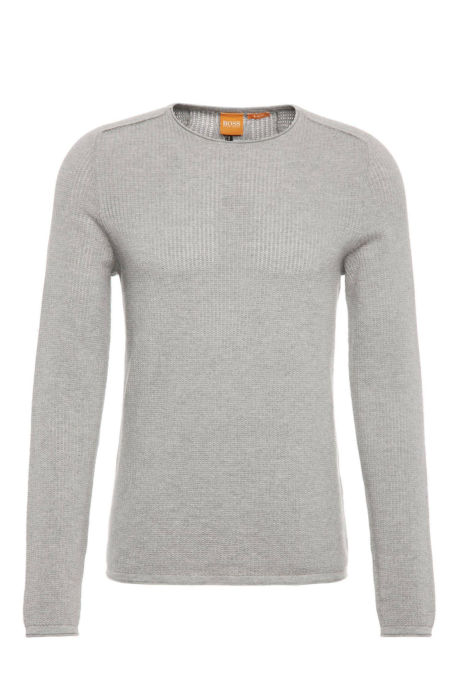 Gestrickter Slim-Fit Pullover aus Baumwolle: ´Kusvet`