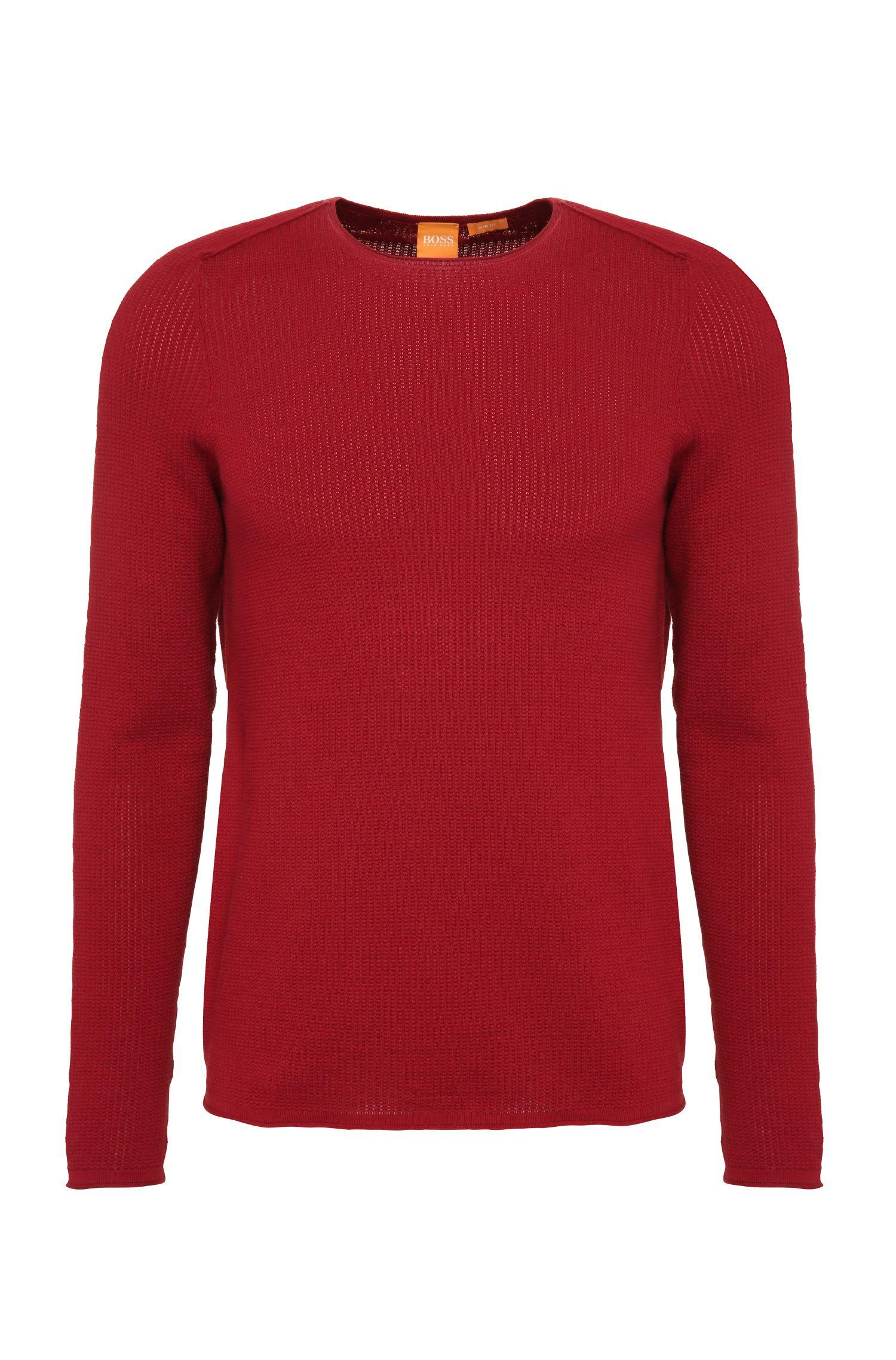 Maglione slim fit in maglia di cotone: 'Kusvet'