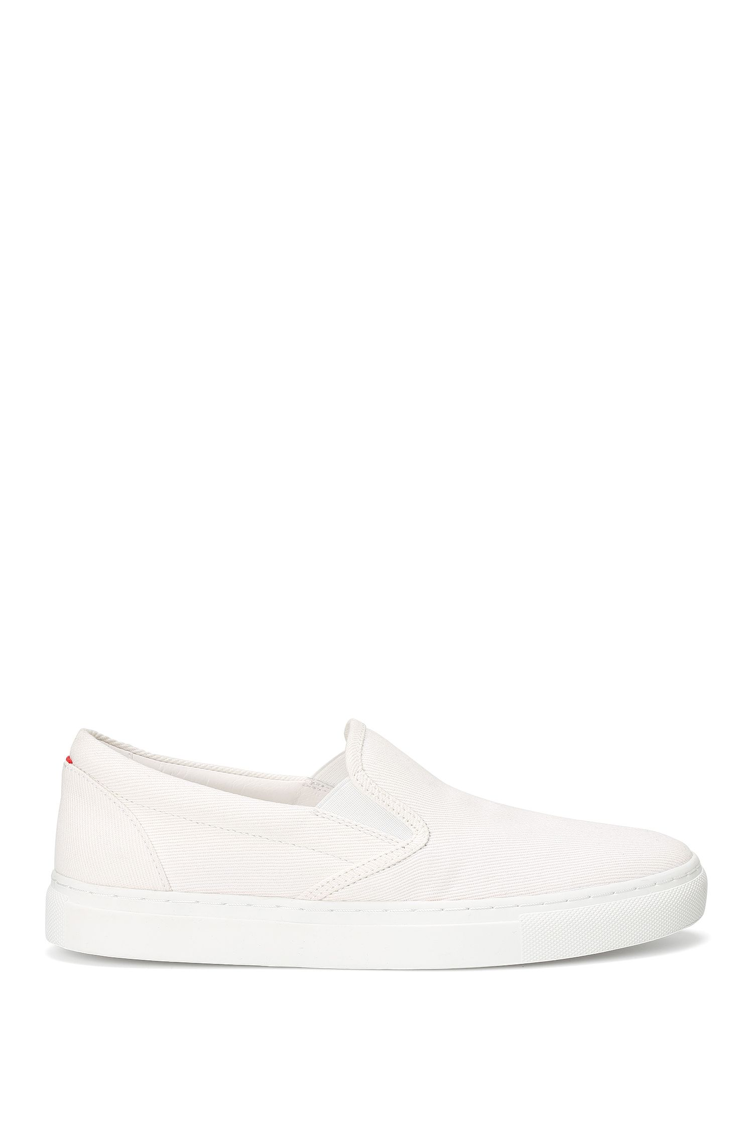 Laceless cotton trainers: 'Cleah-F'