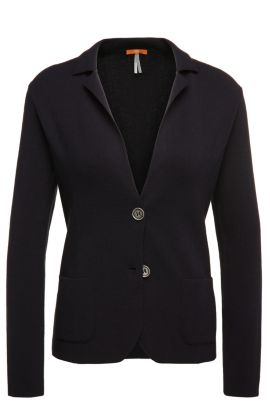 Cardigan in blazer style: 'Ieslettina', Dark Blue