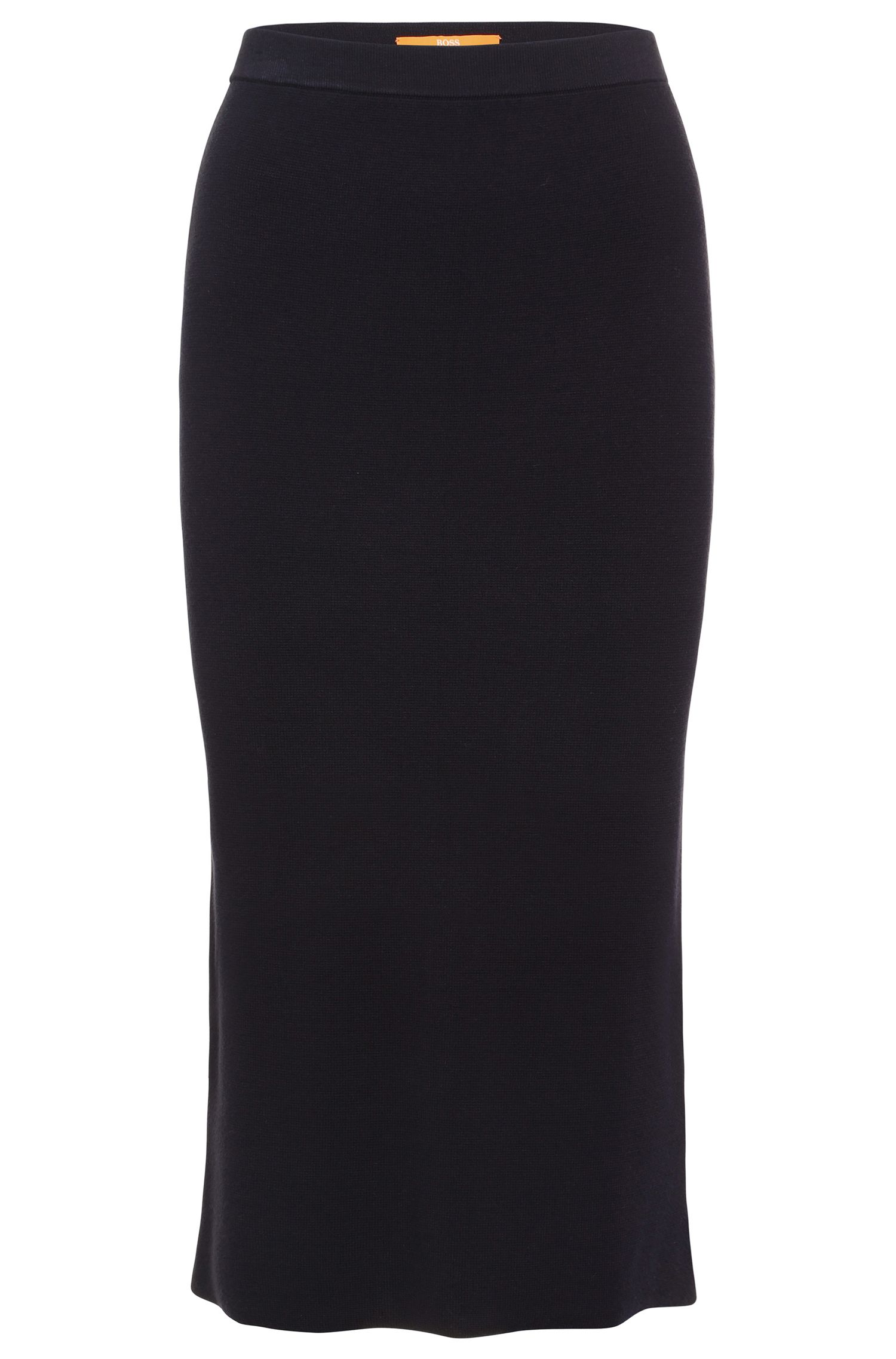 Pencil skirt in textured viscose: 'Ieslirty'
