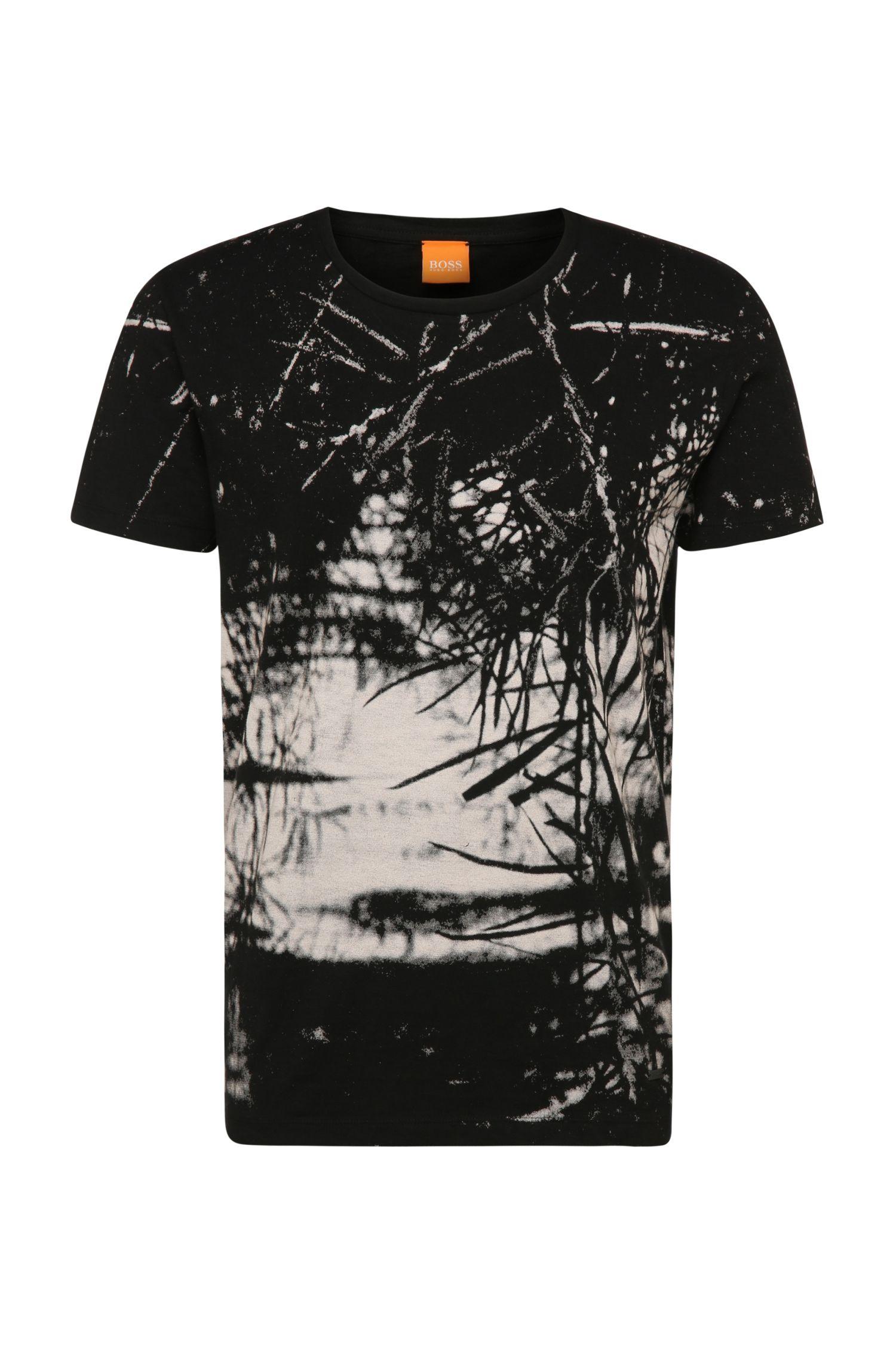 Camiseta relaxed fit en algodón con estampado: 'Trueman'