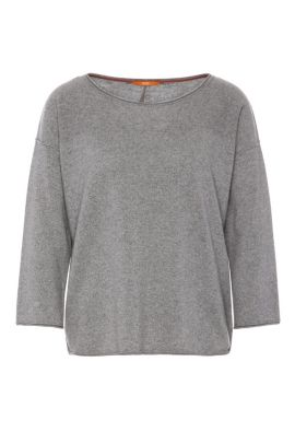 Relaxed-Fit Pullover aus Kaschmir-Mix mit Wolle: ´Wemilia`, Grau