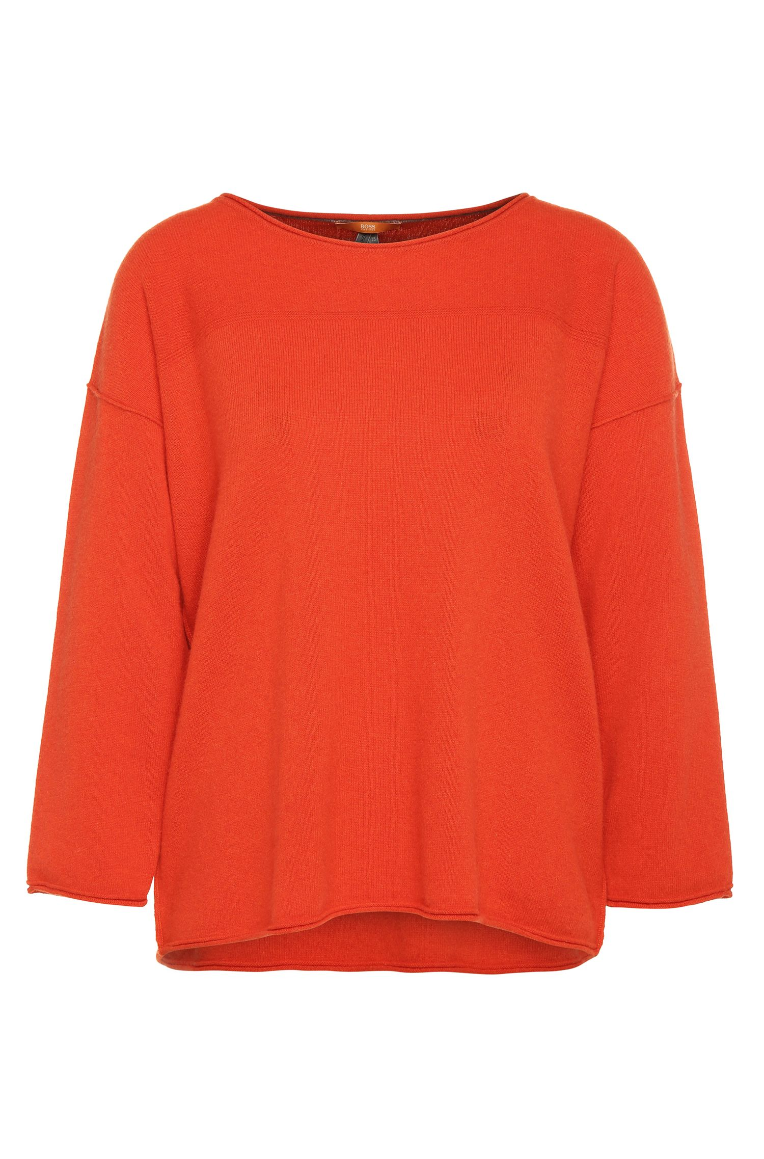 Relaxed-Fit Pullover aus Kaschmir-Mix mit Wolle: ´Wemilia`