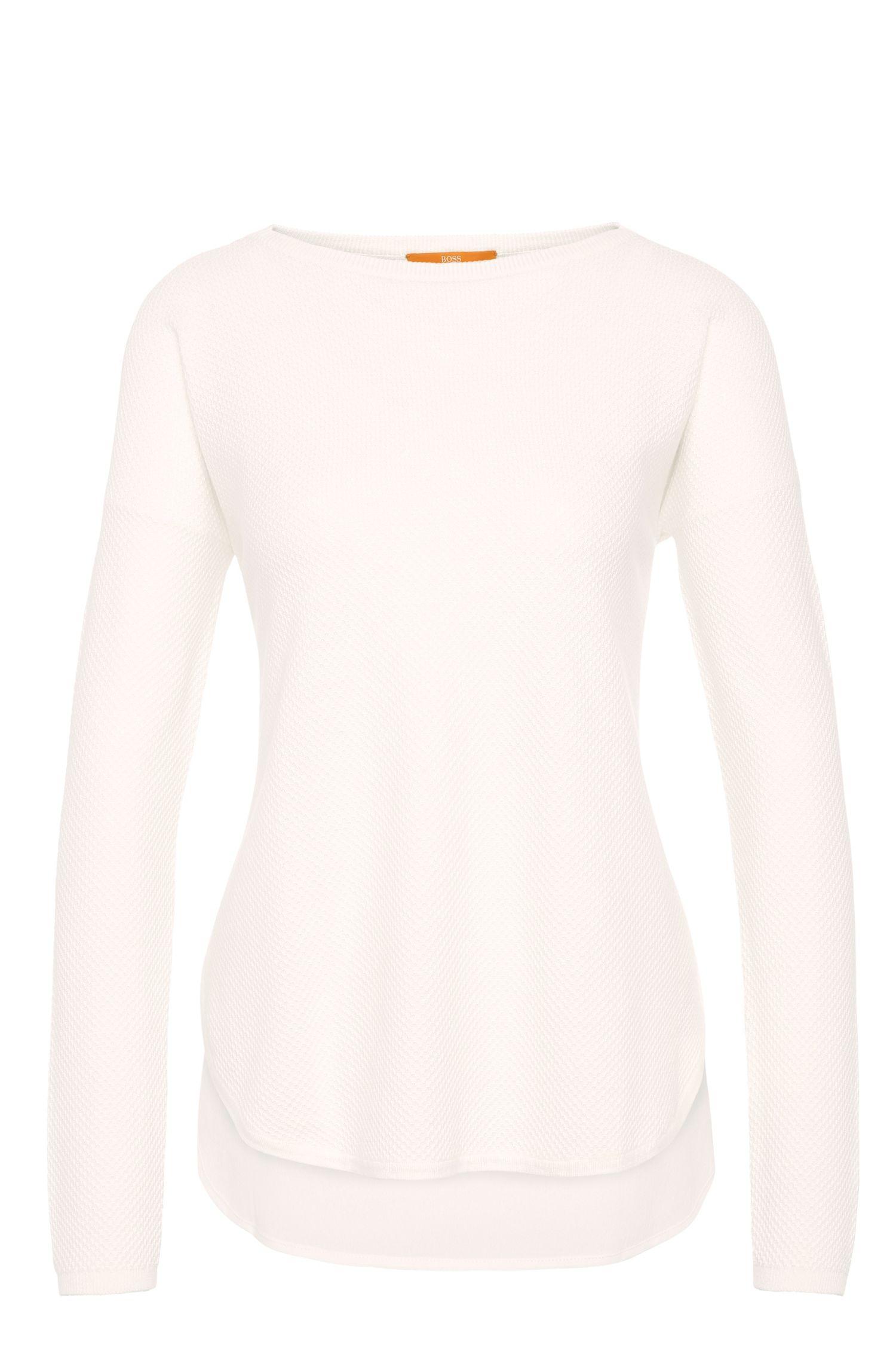 Relaxed-fit trui van een katoenmix met viscose en zijde: 'Ismina'