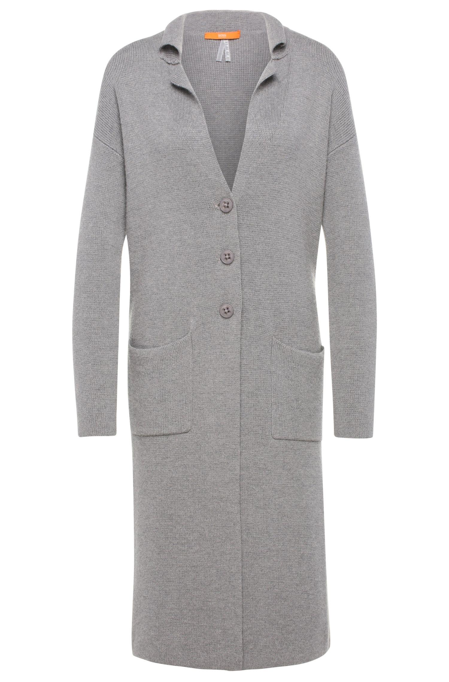 Langer Comfort-Fit Cardigan aus Baumwoll-Mix mit Seide: ´Ilvanova`