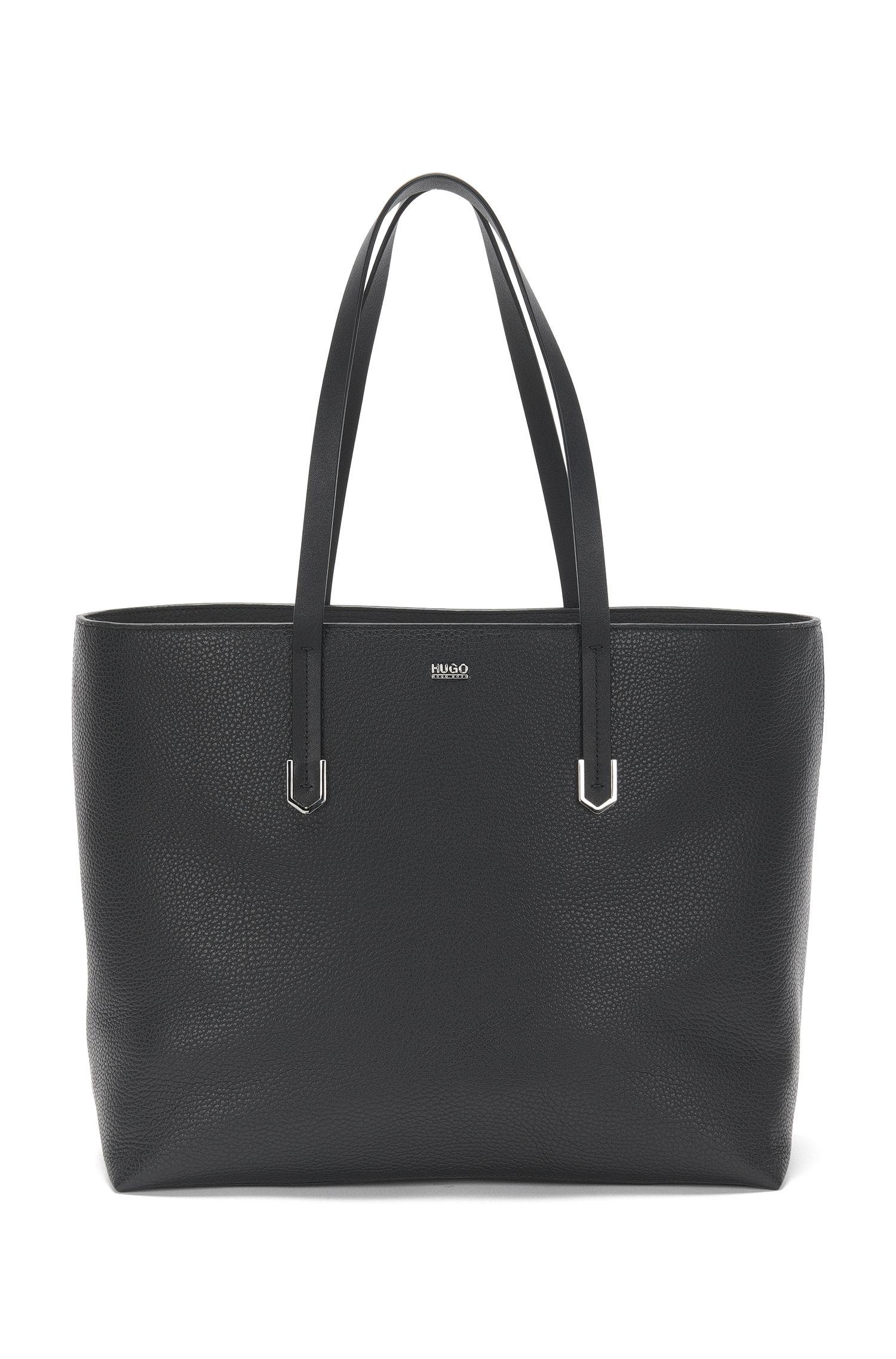 Plain leather shopper: 'Nadalia-R'