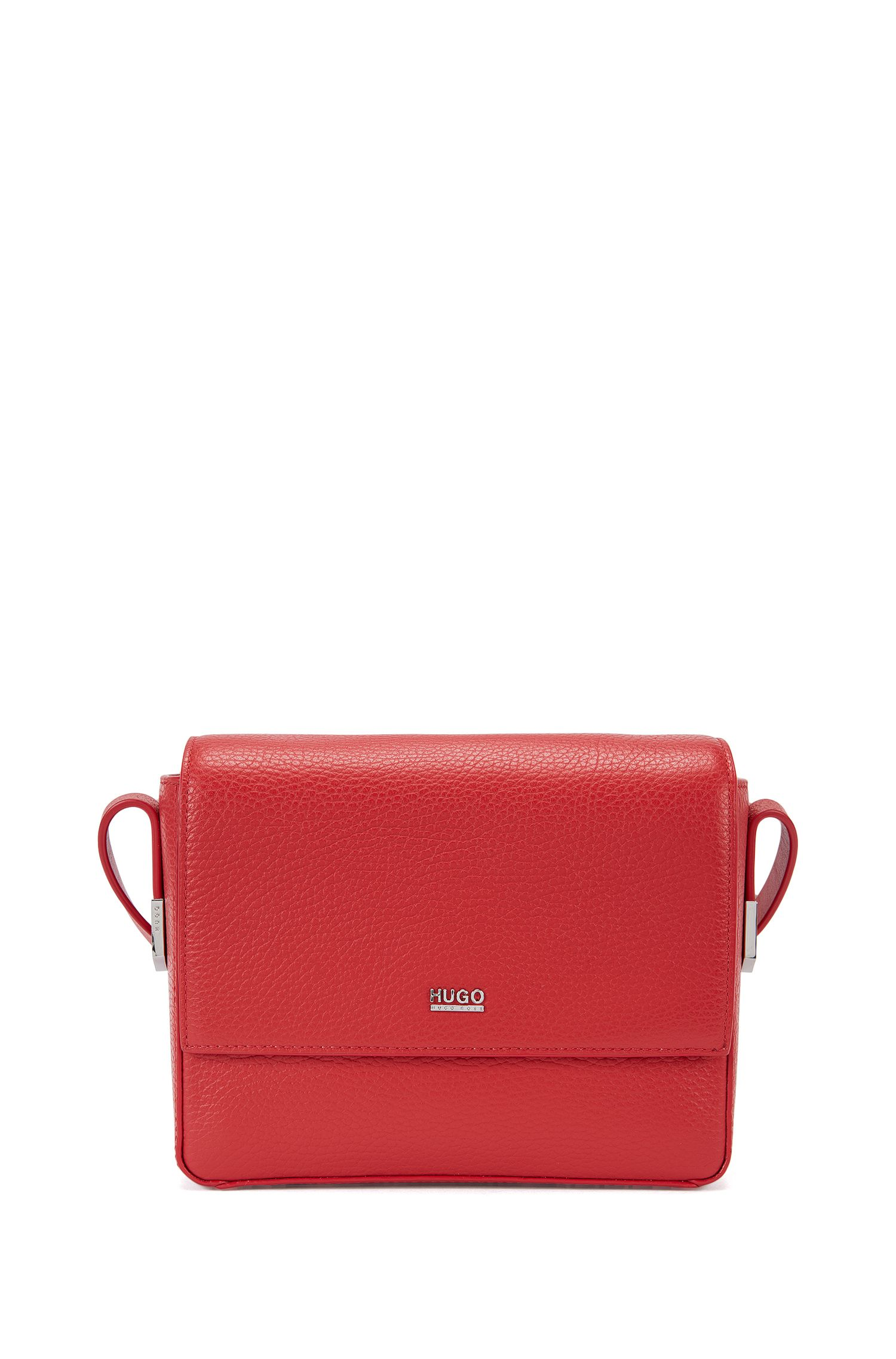 Urban cross-body bag in textured leather
