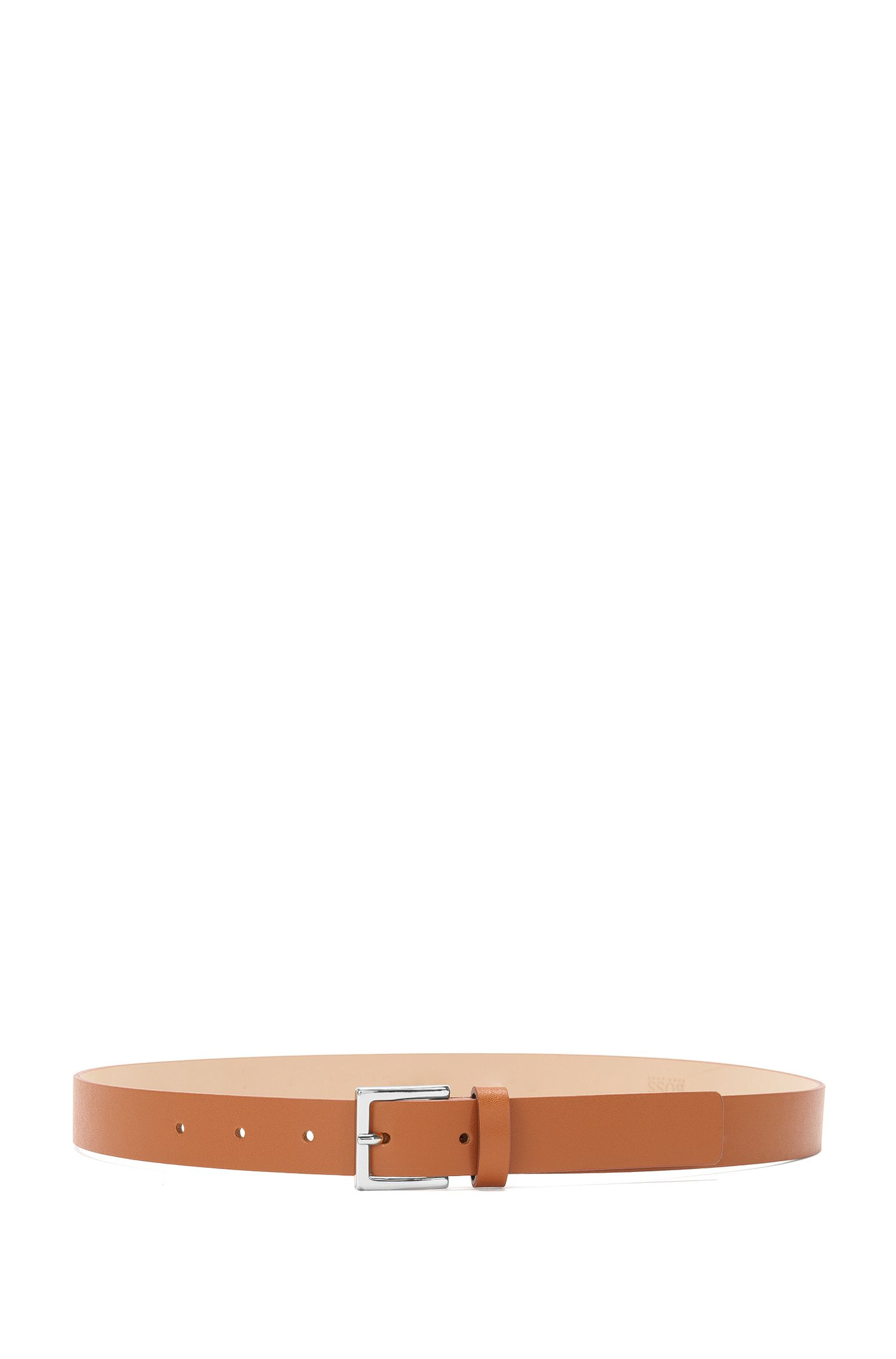 Slim belt in Italian leather