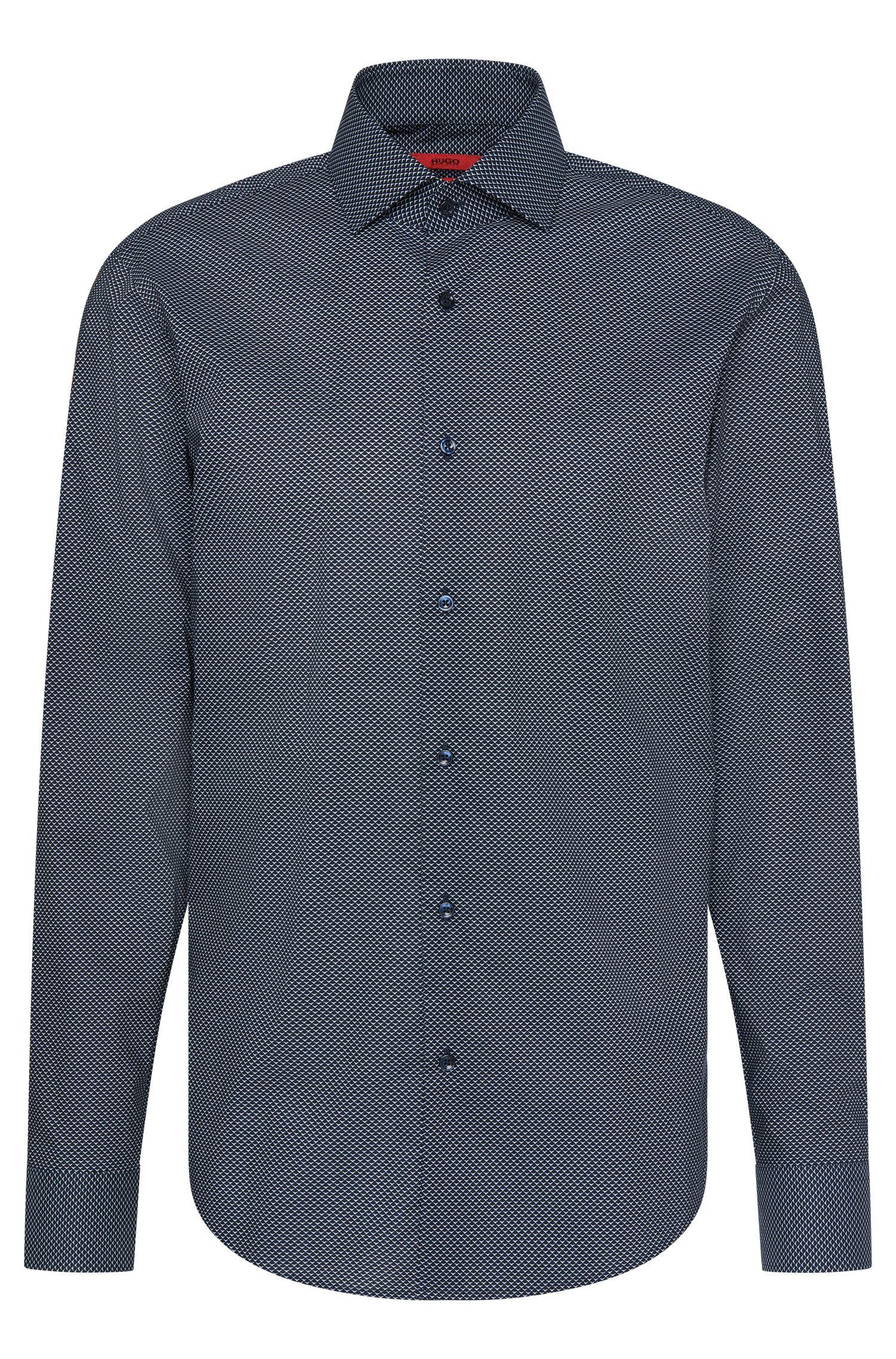 Patterned regular-fit shirt in cotton: 'C-Gordon'