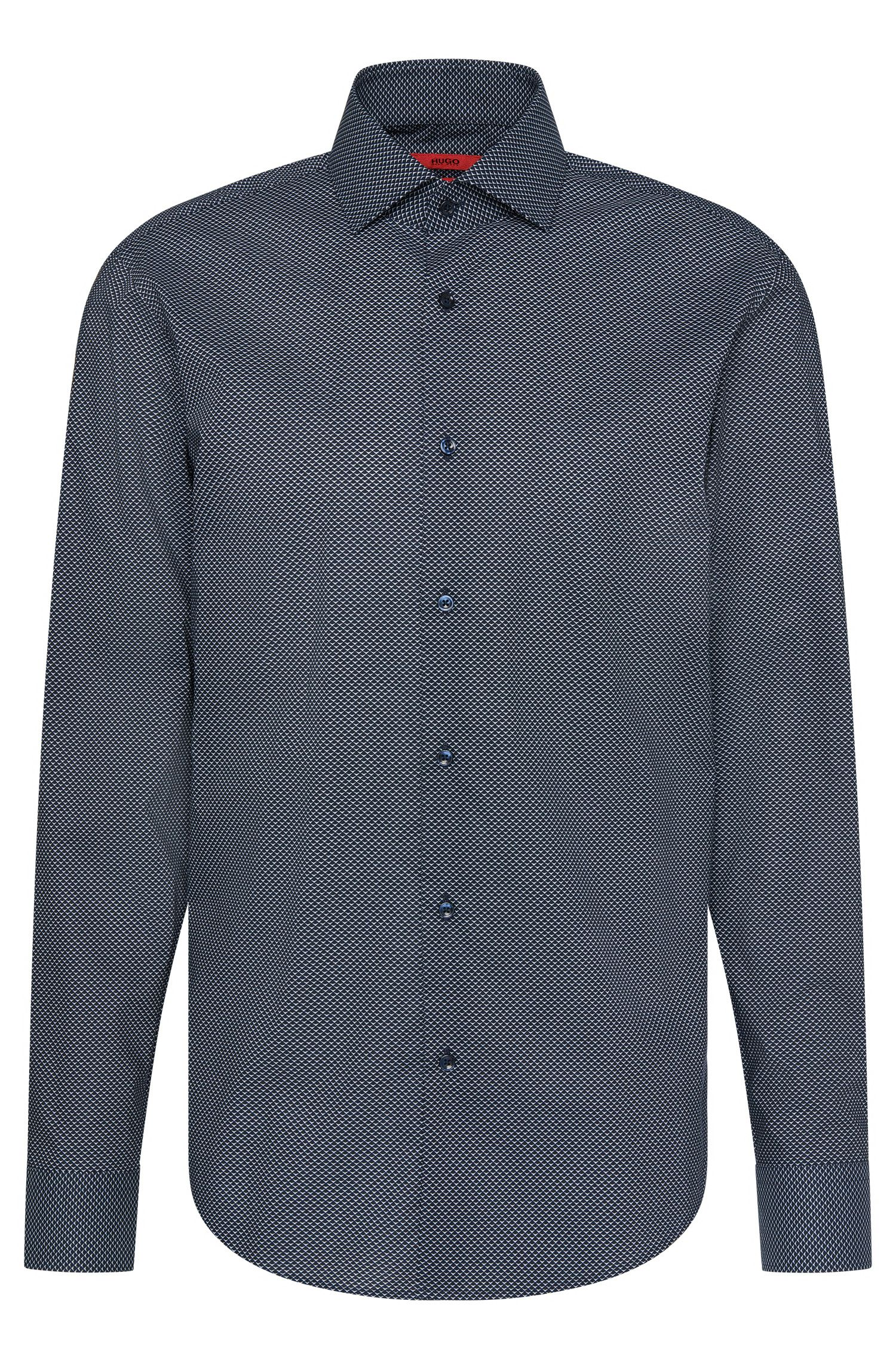 Patterned regular-fit shirt in cotton: 'C-Gordon'