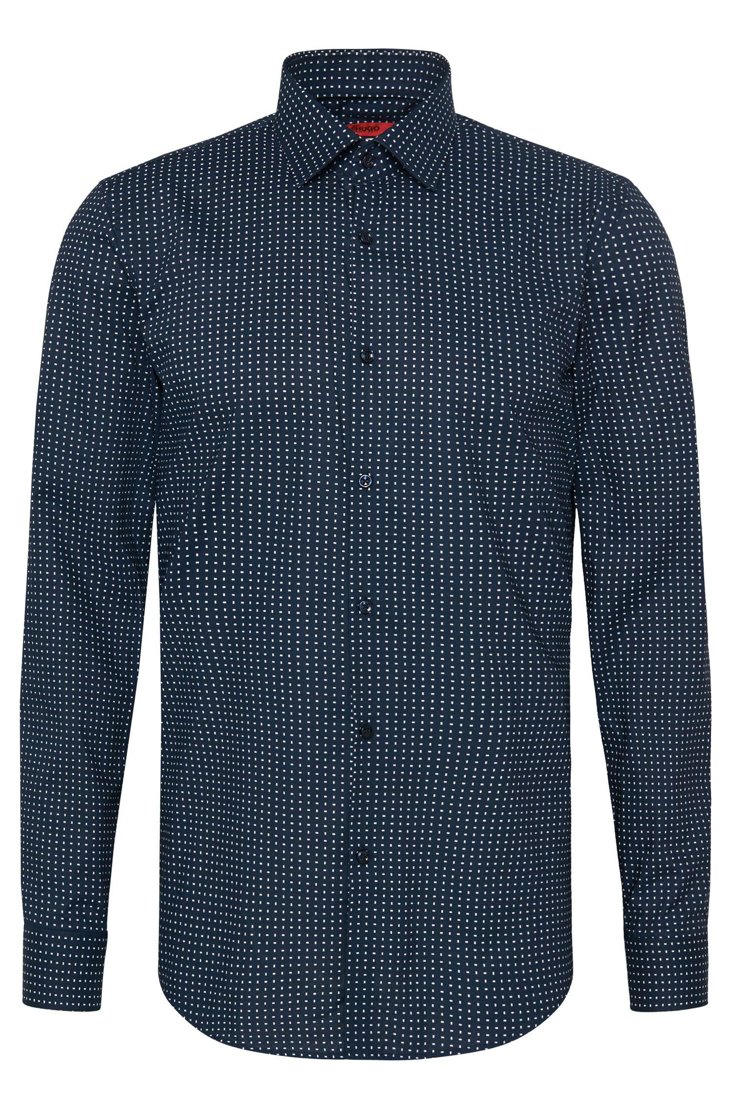 Camisa slim fit estampada en algodón: 'C-Jenno'