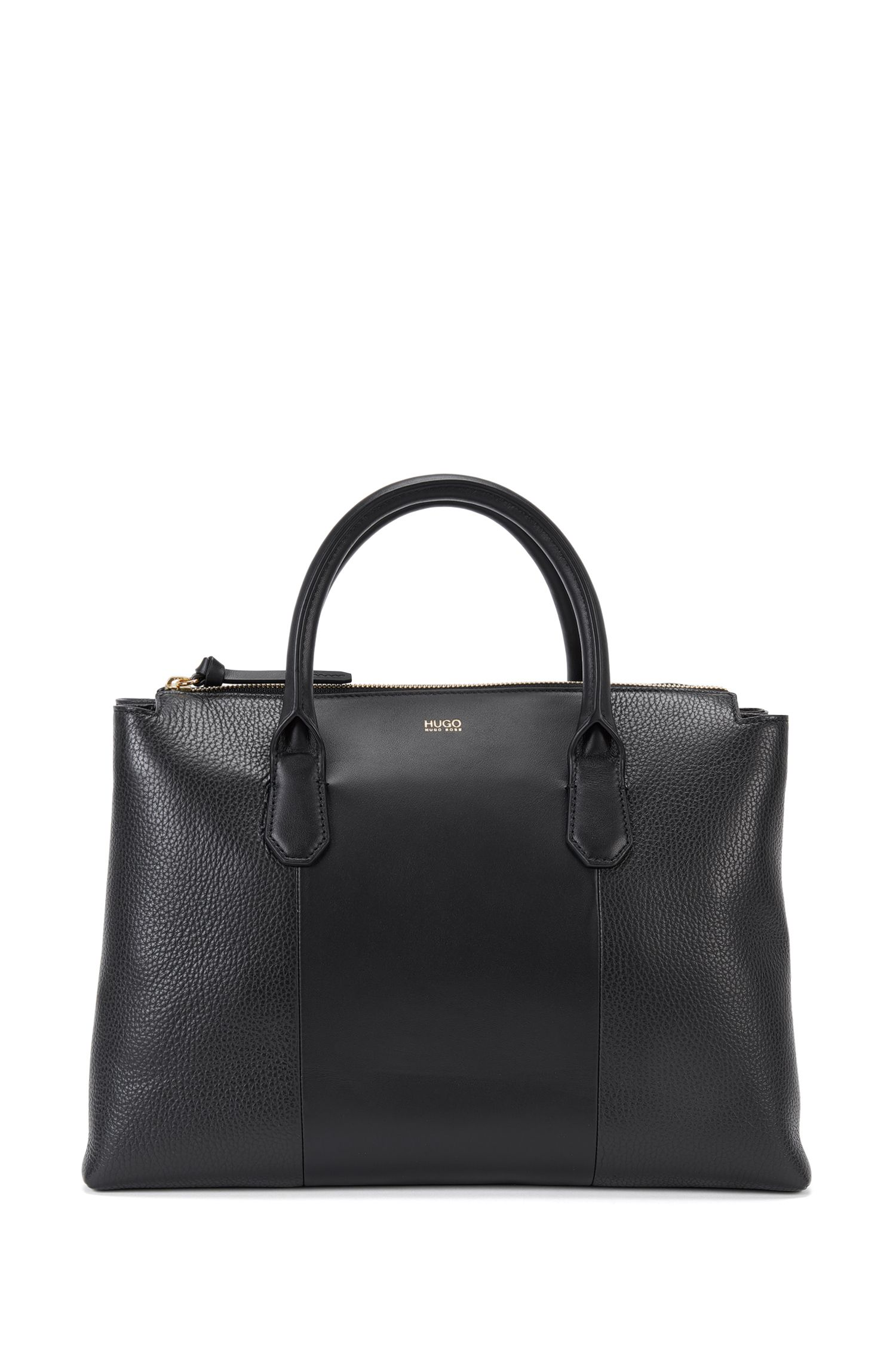 Leather handbag in a mixture of textures: 'Gisah-R'