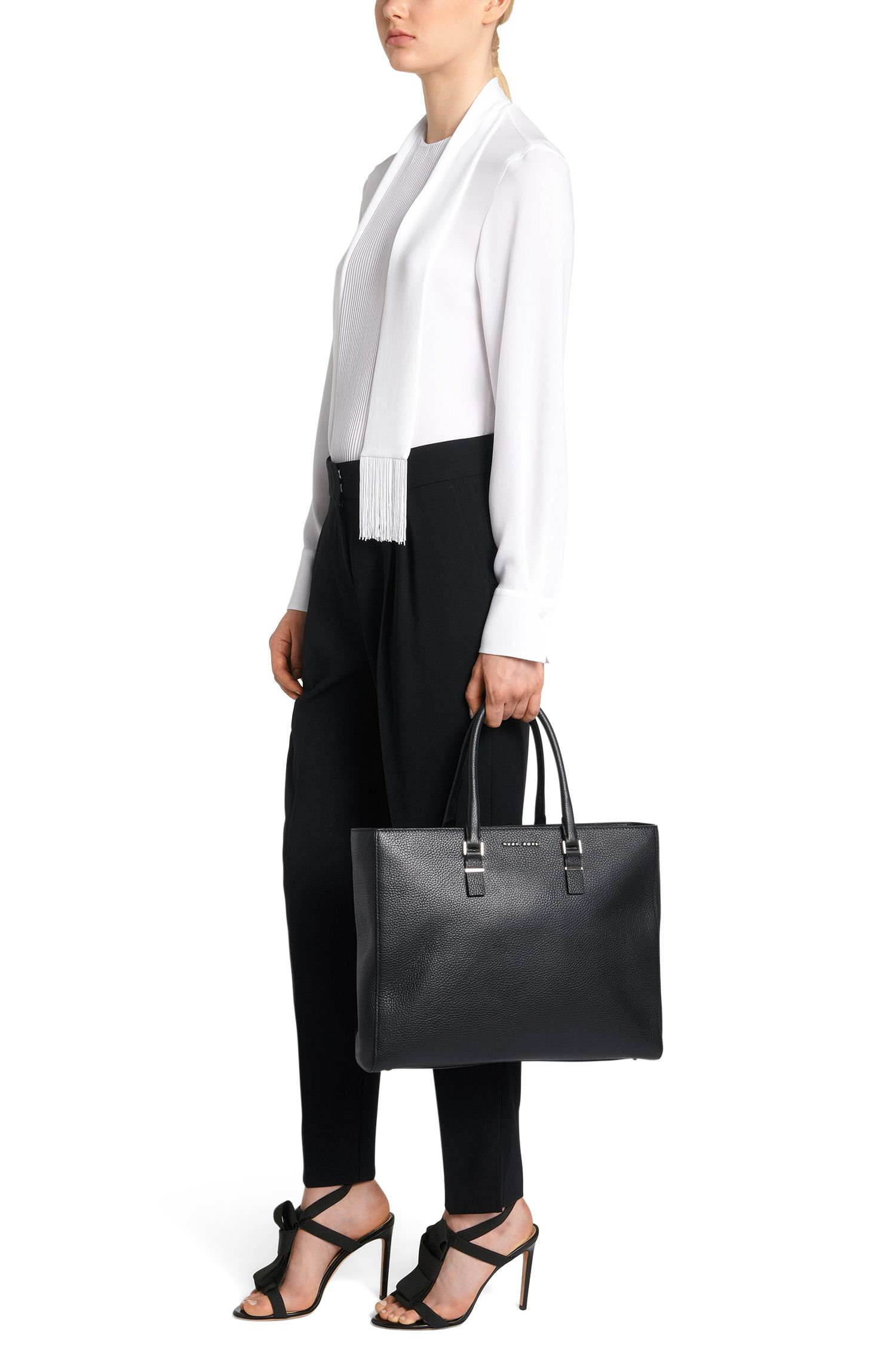 Workbag van luxueus Italiaans leer uit de Luxury Staple-collectie van BOSS