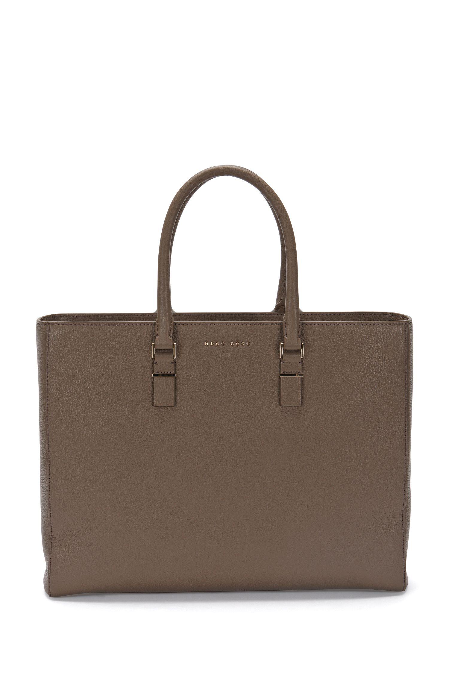 BOSS Luxury Staple work bag in rich Italian leather