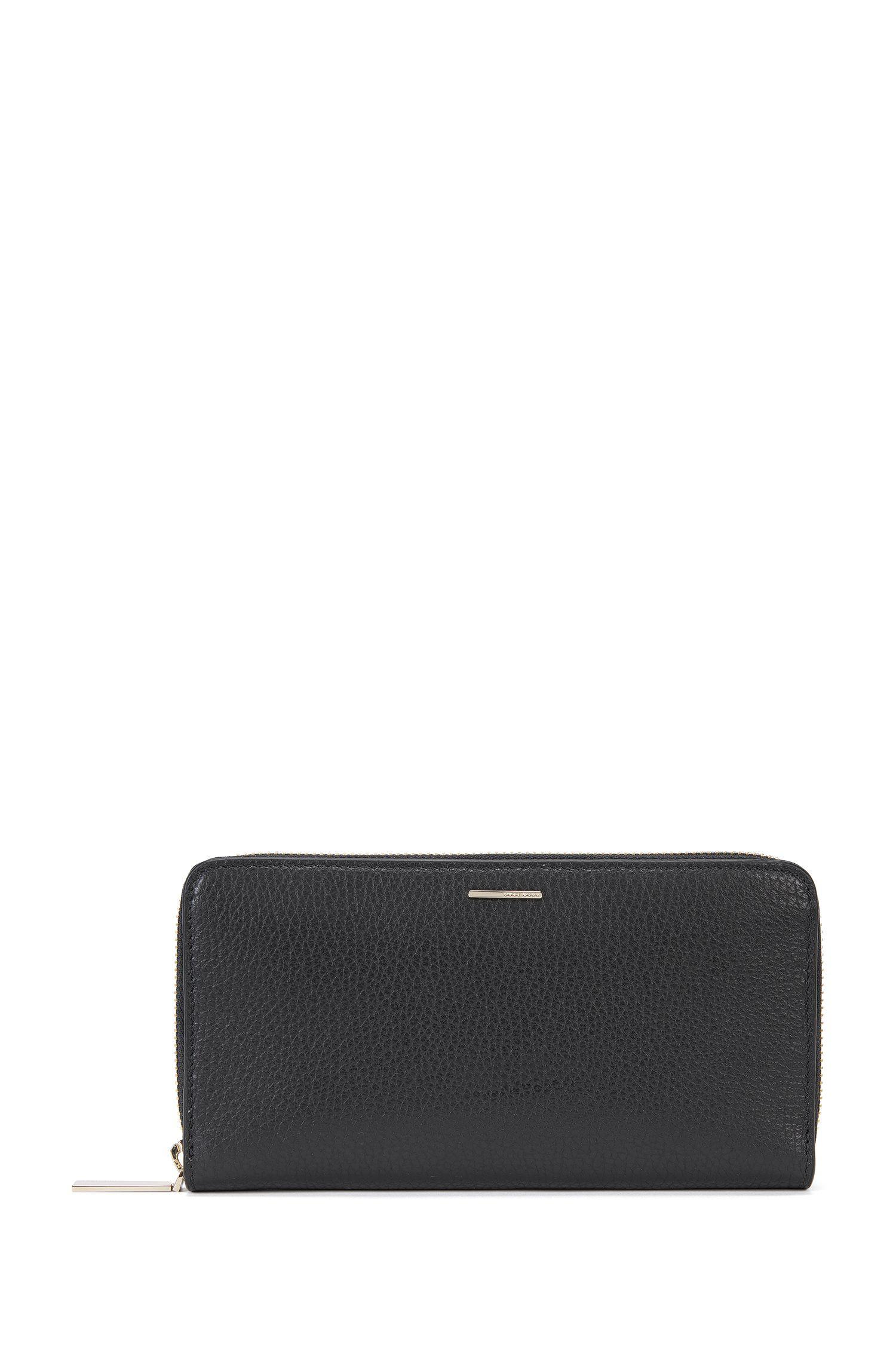 Geldbörse aus genarbtem Leder aus der BOSS Luxury Staple Kollektion
