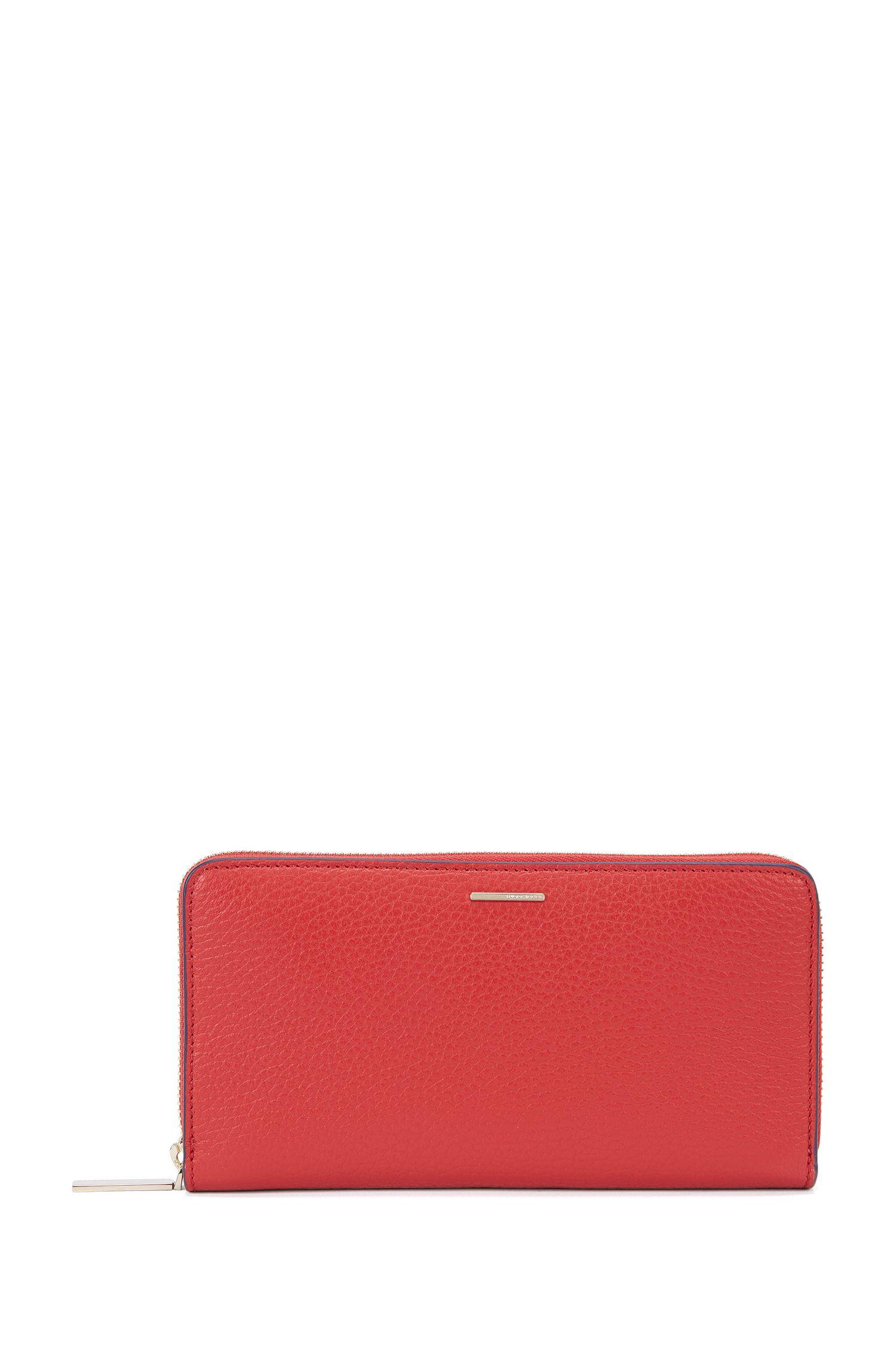 Portafoglio in pelle martellata della collezione BOSS Luxury Staple
