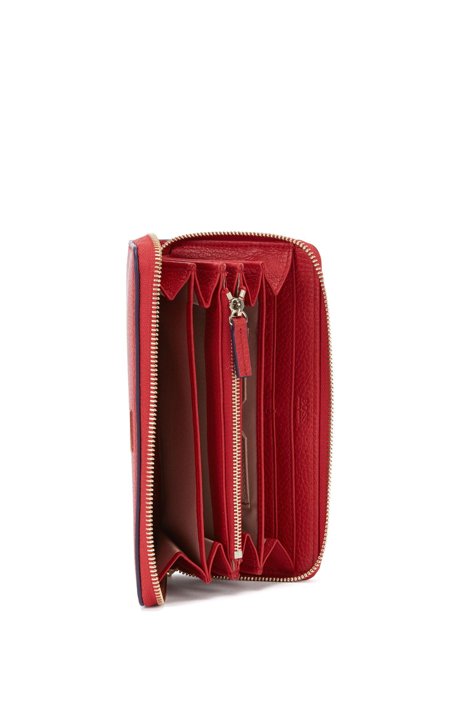 BOSS Luxury Staple portemonnee van generfd rundleer
