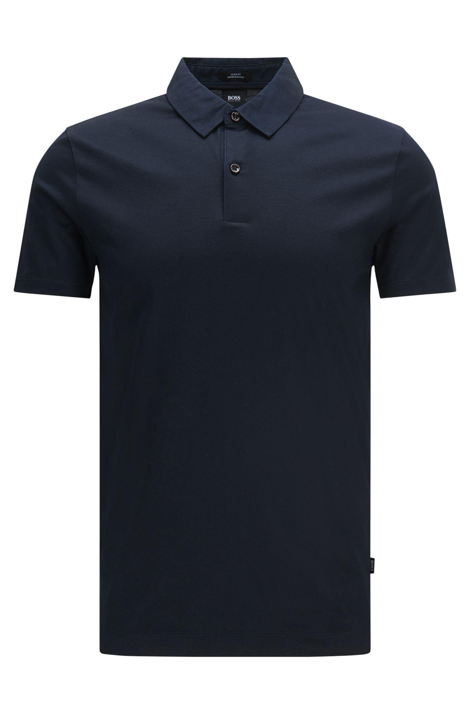 Slim-Fit Poloshirt aus merzerisierter Baumwolle: 'Place 13'