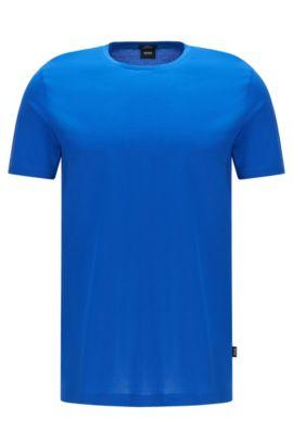 Slim-fit t-shirt in mercerised cotton: 'Tessler 52', Blue