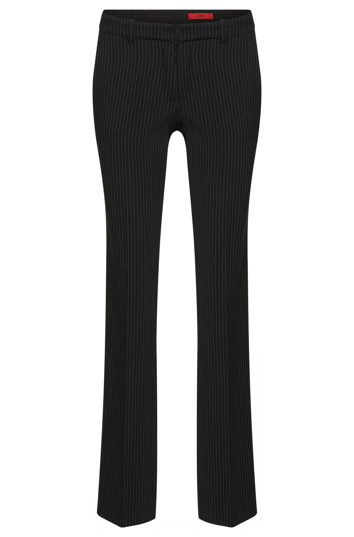 Pantalón de corte recto con diseño de raya diplomática: 'Hinass-5'