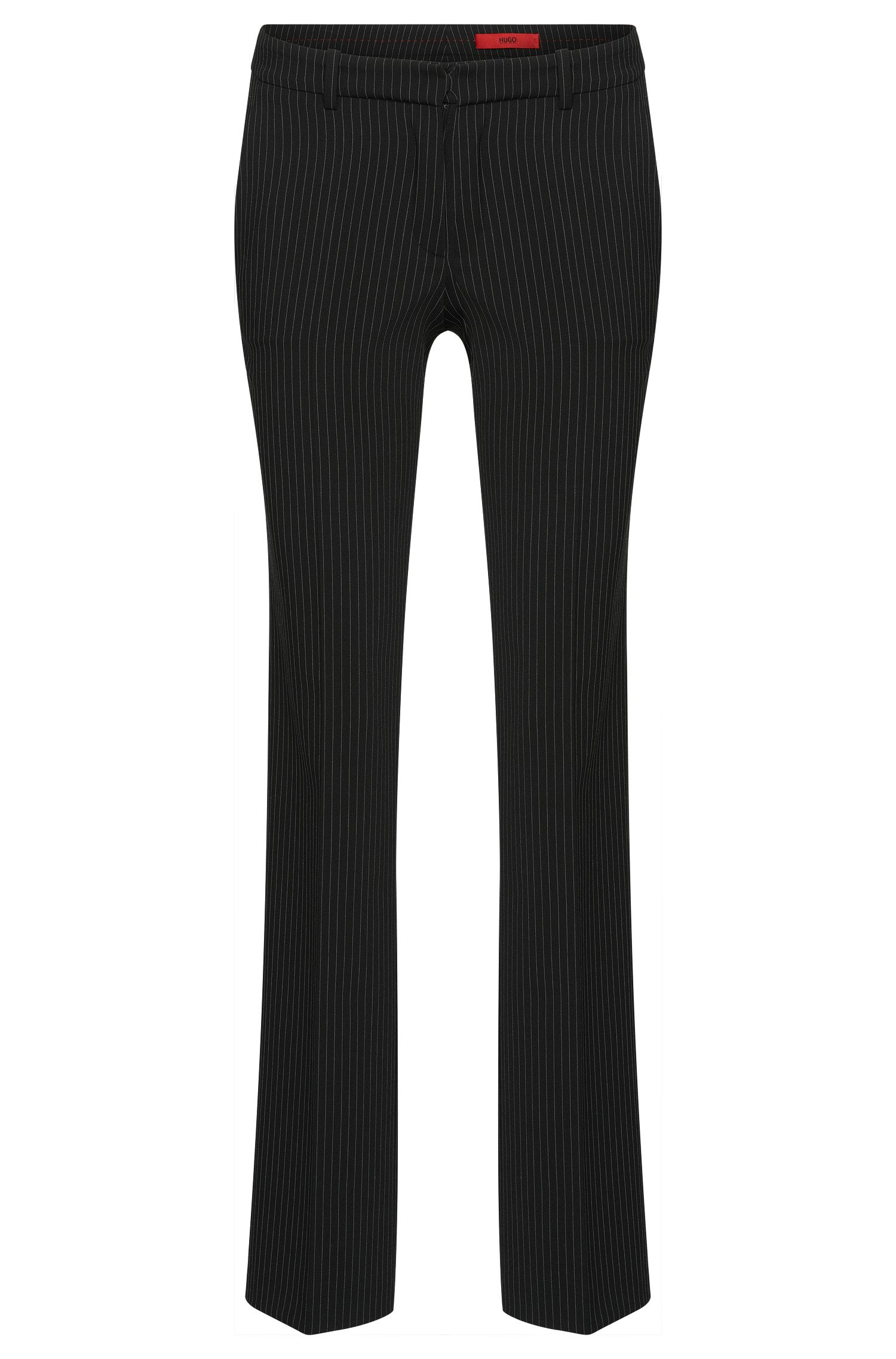 Straight-cut trousers in pinstripe pattern: 'Hinass-5'