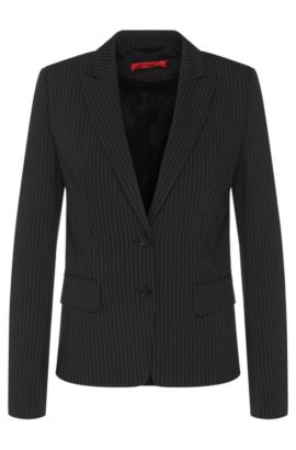 Fitted blazer with pinstripes: 'Alonie', Black