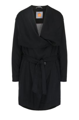 Hooded parka in fabric blend: 'Osuvi', Black