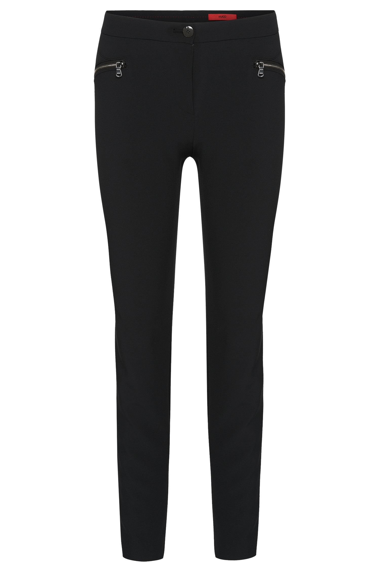 Low-waisted trousers with zip pockets: 'Hedine'