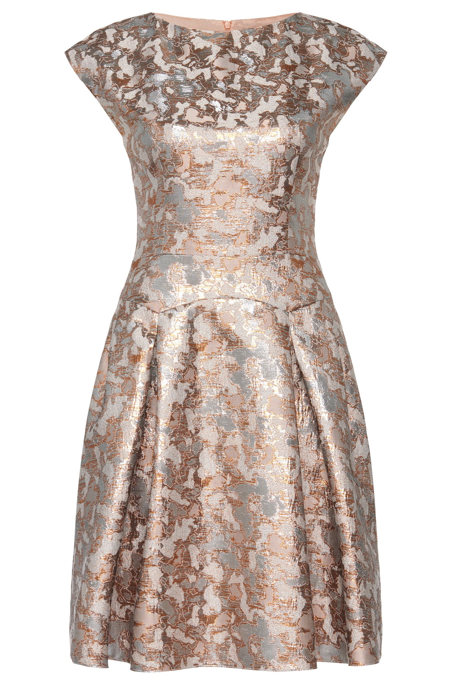Vestido en mezcla de algodón con efecto metalizado: 'Kristena'