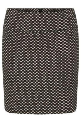 Falda con estampado de círculos y acabado metalizado: 'Romis-1', Fantasía