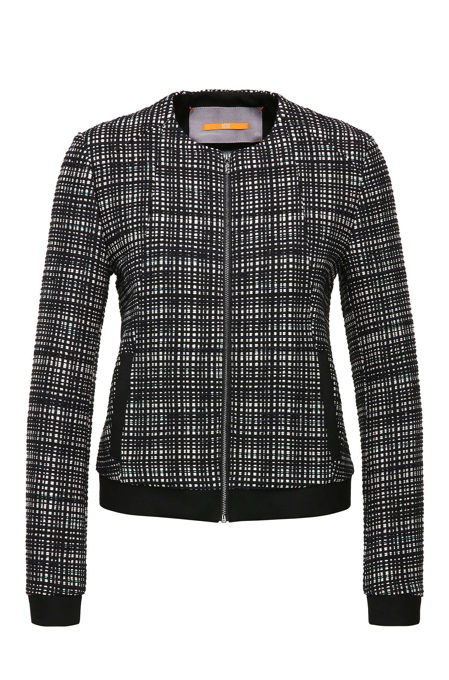 Short tweed tailored jacket in cotton blend: 'Otwidy'