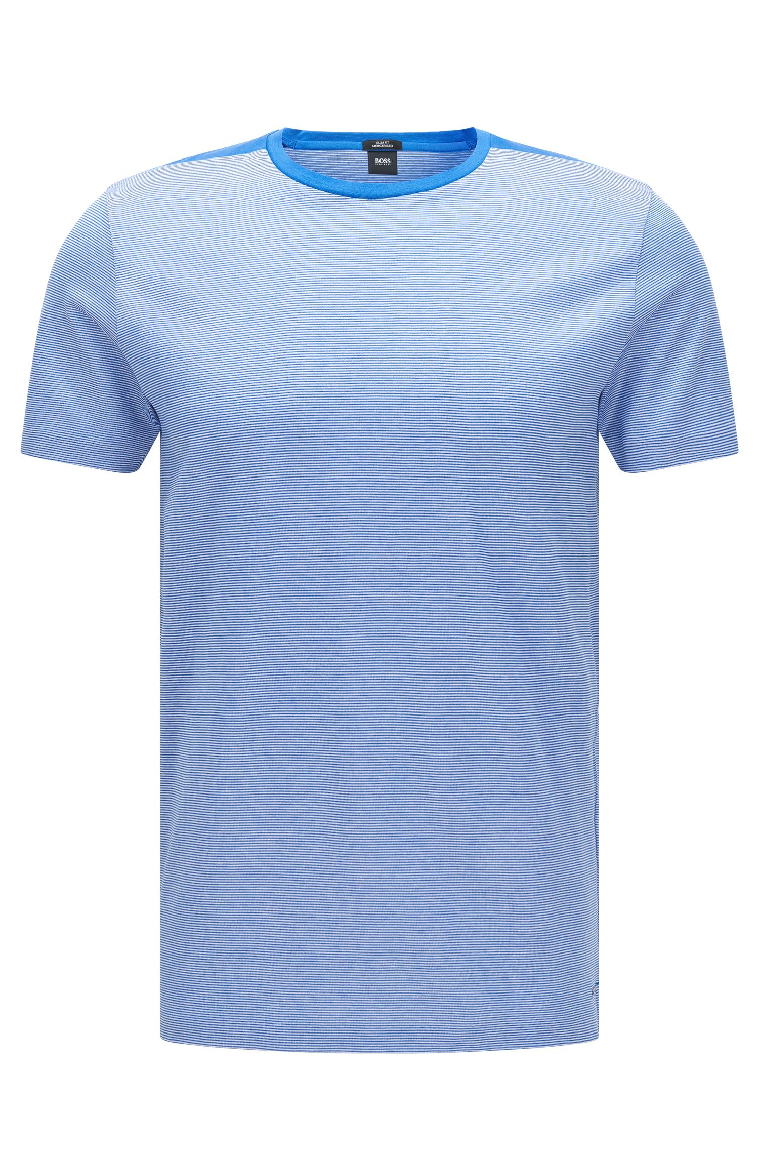 T-shirt a righe slim fit in cotone: 'Tessler 46'