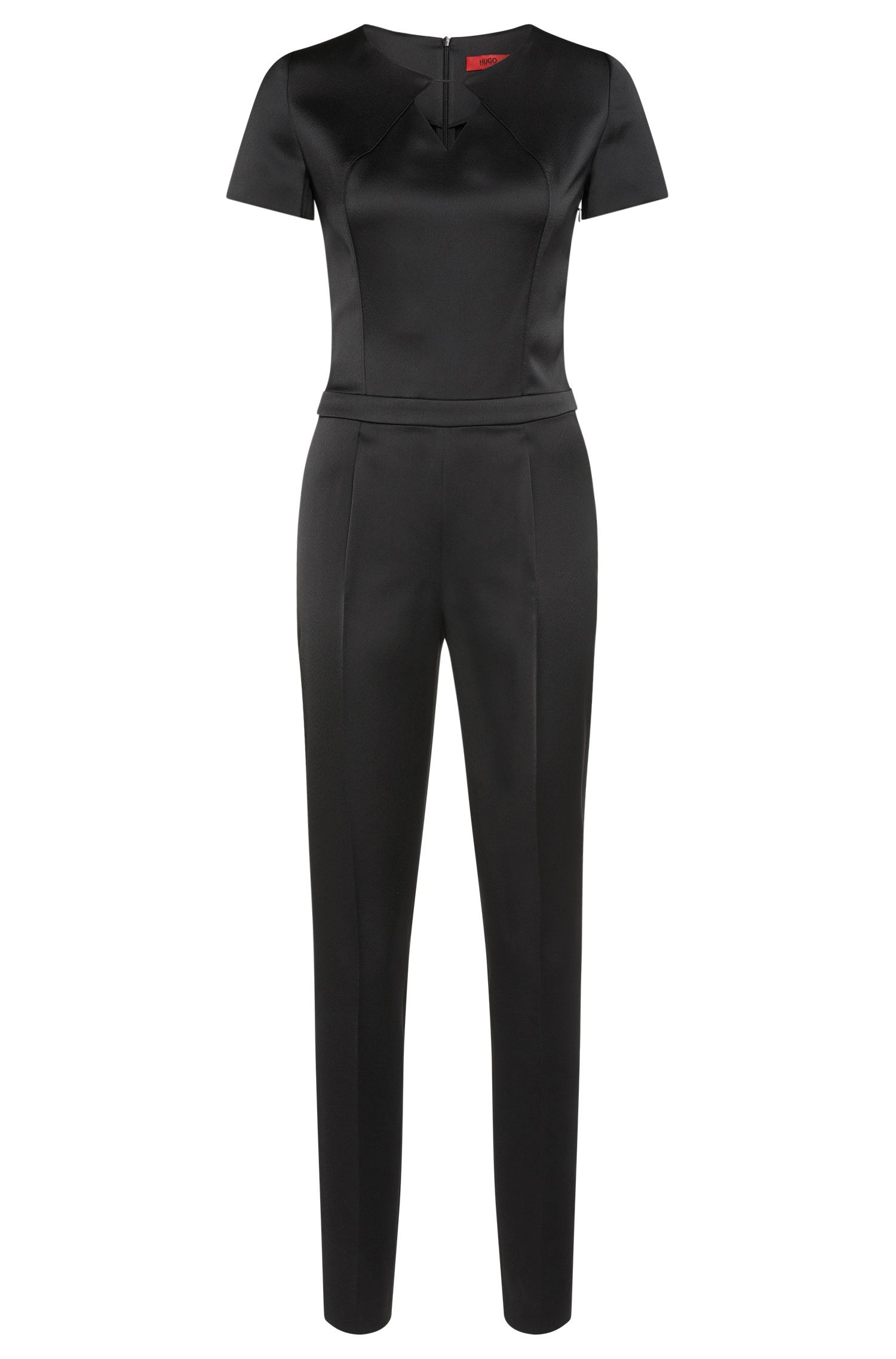 Jumpsuit in a material blend with waist pleats: 'Klary'