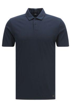 Polo Travel Line regular fit en algodón: 'Press 19', Azul oscuro