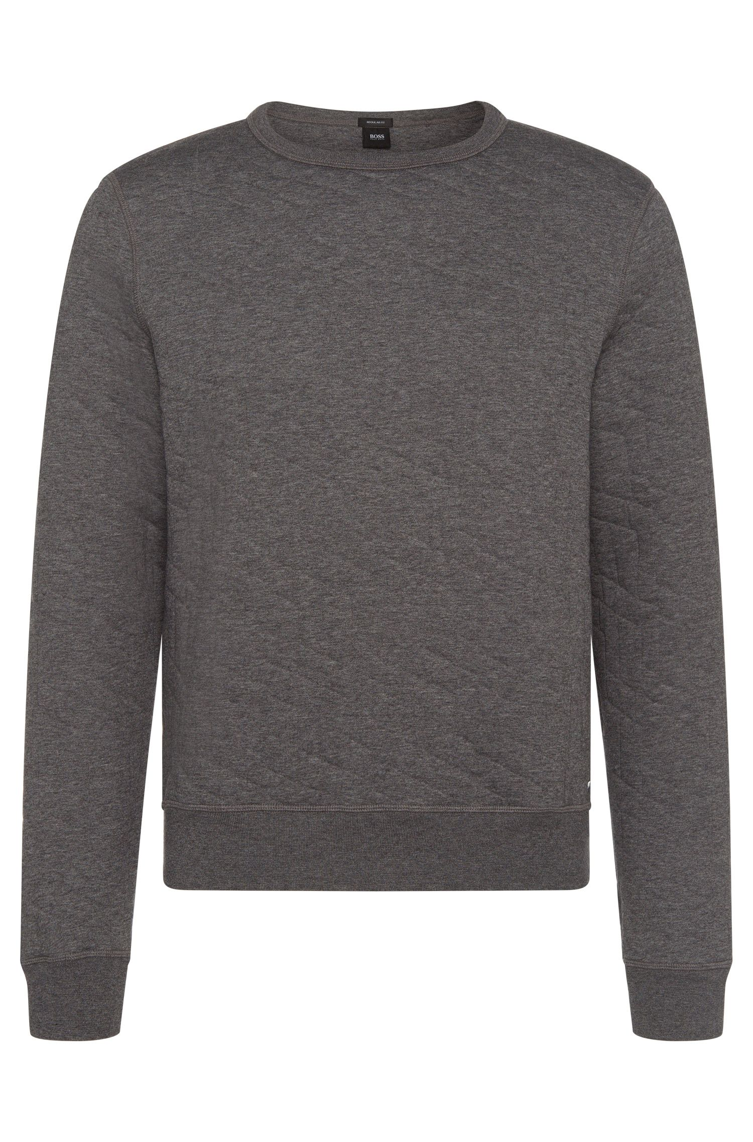 Meliertes Regular-Fit Sweatshirt aus Baumwoll-Mix: 'Stadler 03'