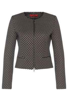 Short blazer in dotted design: 'Aleesia', Patterned