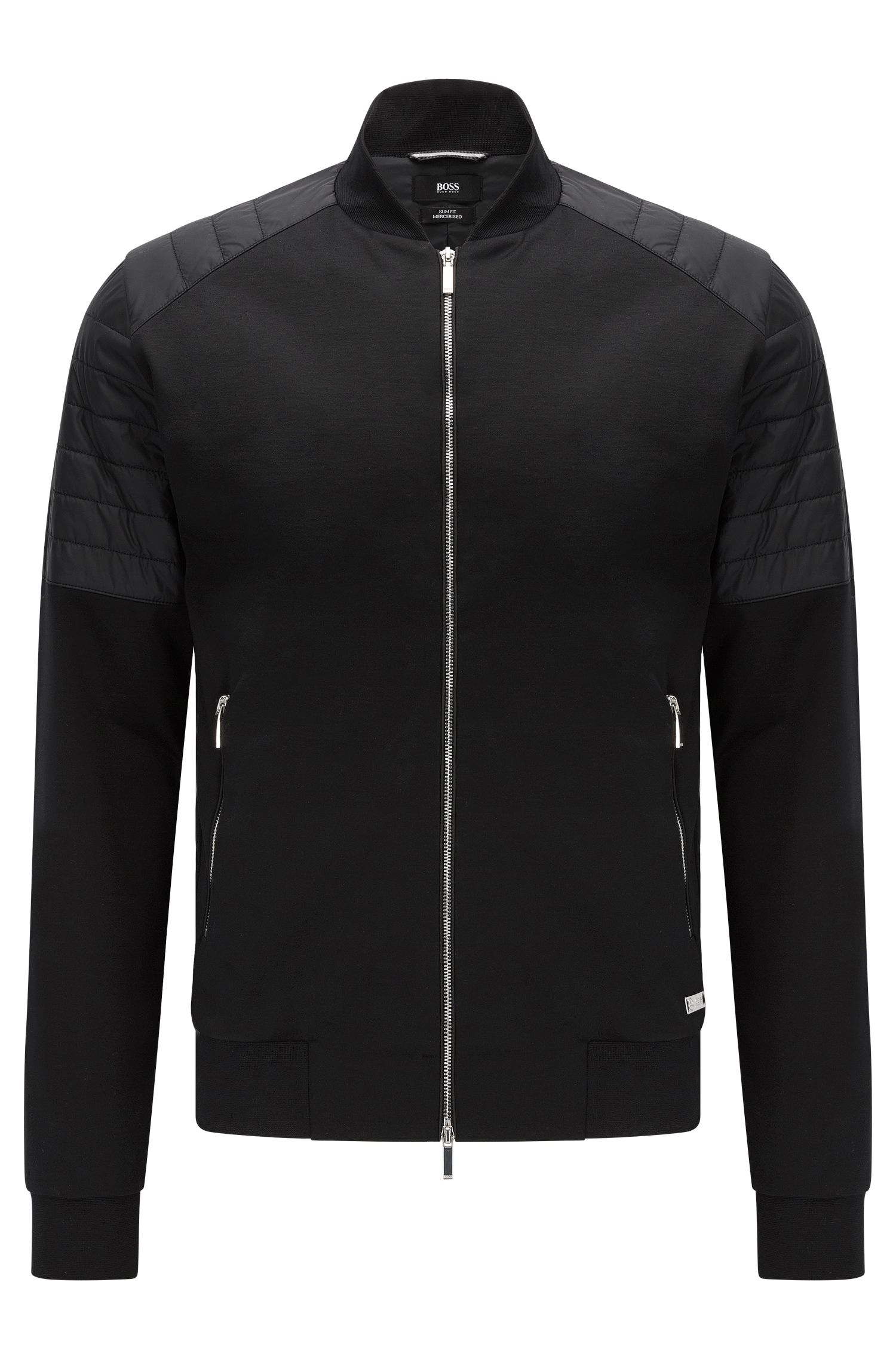 Slim-fit sweatshirt jacket in mercerised stretch cotton: 'Salea 07' from the Mercedes-Benz Collection