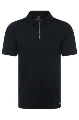 Slim-fit polo shirt in cotton: 'Polston 03' from the Mercedes-Benz Collection, Black