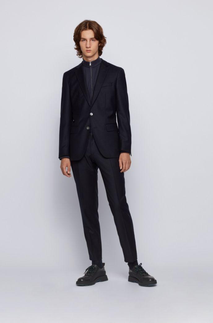 Regular-fit zip-through sweatshirt in mercerised cotton