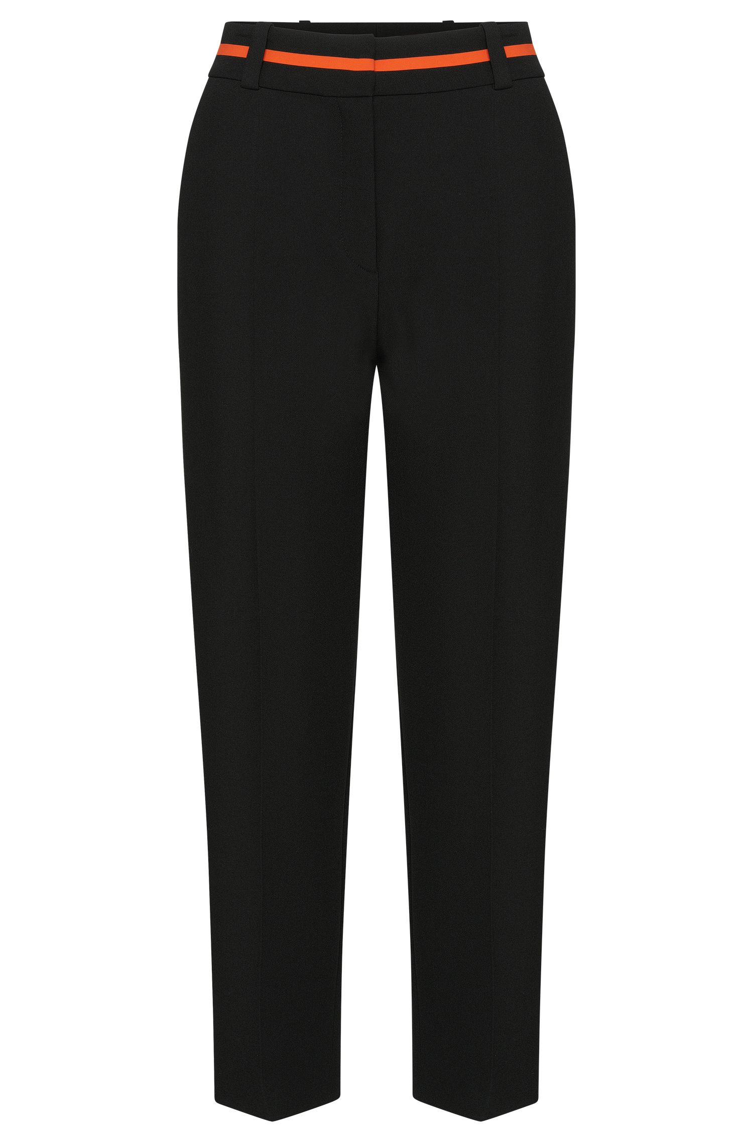 Trousers in culottes style with contrasting details at the waistband: 'Hulina'