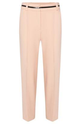 Pantalón estilo falda con detalle contrastado en la cintura: 'Hulina', Rosa claro